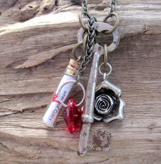 Valentine's Day gifts and accessories: Love Poem in a Bottle Necklace