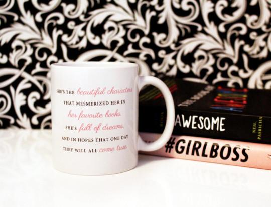 Shes the Beautiful Characters Literary Mug