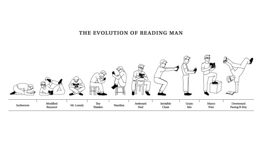 The evolution of a reading man