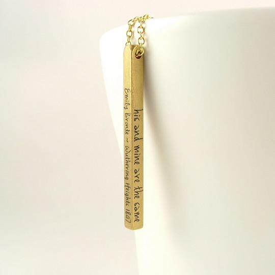 Wuthering Heights Long Brass Bar Pendant