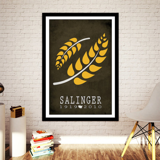 Literary posters from Creative Daffodils - Salinger visualization
