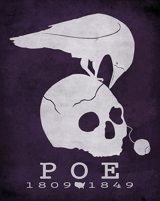 Literary posters from Creative Daffodils - Edgar Allan Poe