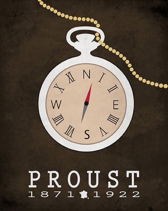 Literary posters from Creative Daffodils - Marcel Proust