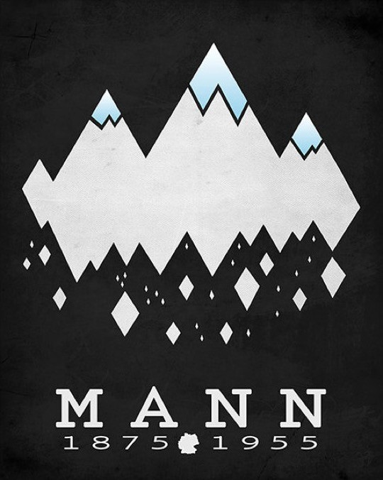 Literary posters from Creative Daffodils - Thomas Mann