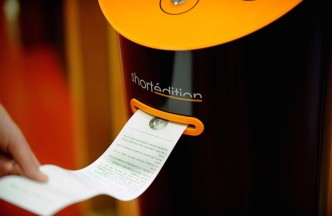 Short story vending machines - printing pu the story