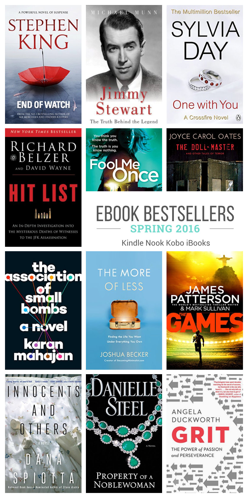 Ebook bestsellers of spring 2016