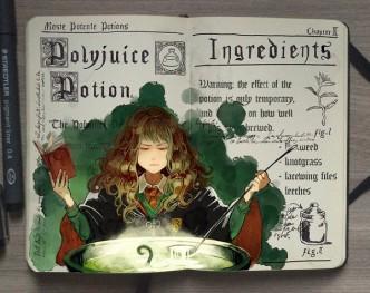 Famous Harry Potter spells - Polyjuice Potion