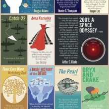 First lines of famous novels - full infographic