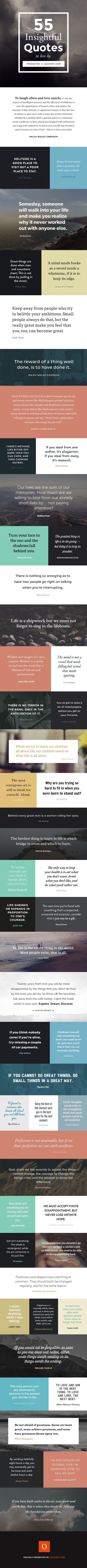 Inspirational quotes to live by full infographic