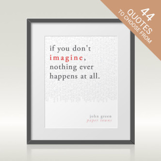 Literary art prints from Bright Designs