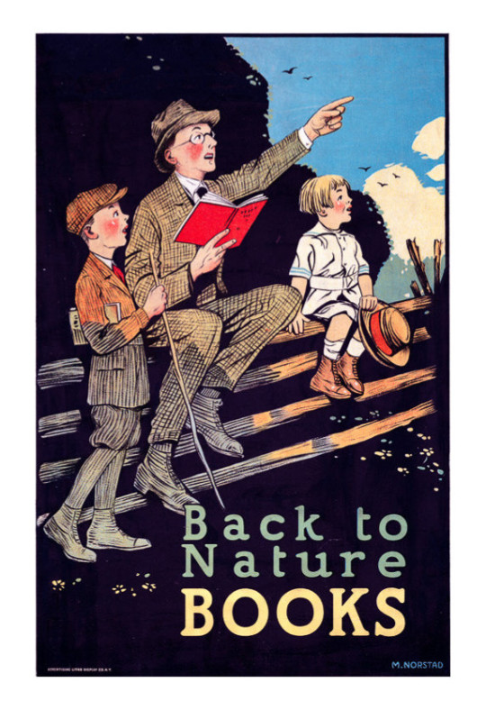 Vintage book posters: Back to nature books
