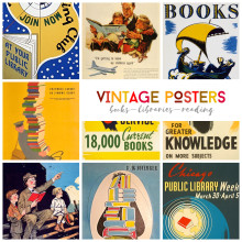 Best vintage book and library posters
