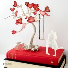 Book sculptures by Malena Valcarcel - The Tree of Love