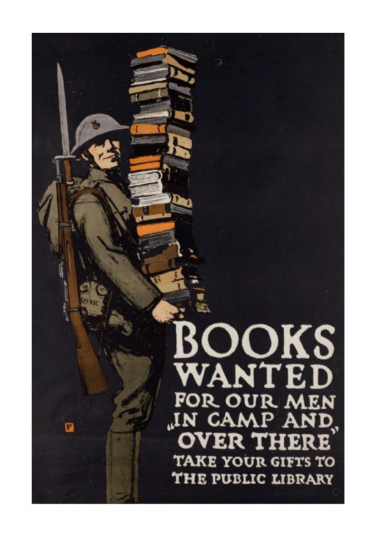 Retro book posters: Books wanted WWI