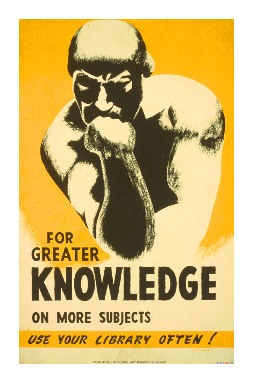 For greater knowledge use your library often