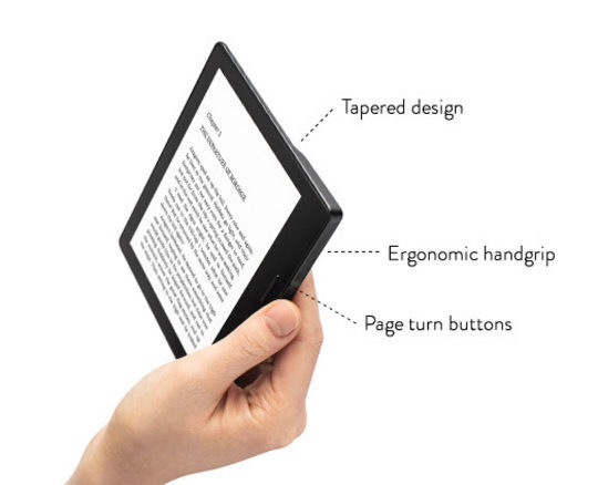 Kindle Oasis - design elements