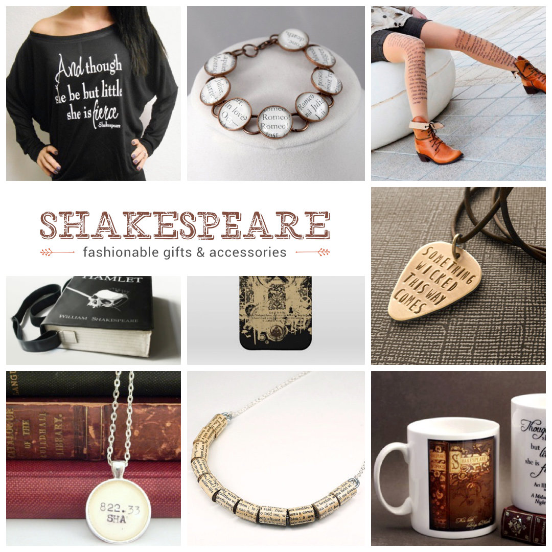 Most fashionable Shakespeare-inspired gifts and accessories