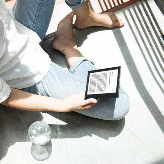 Reading on a Kindle Oasis