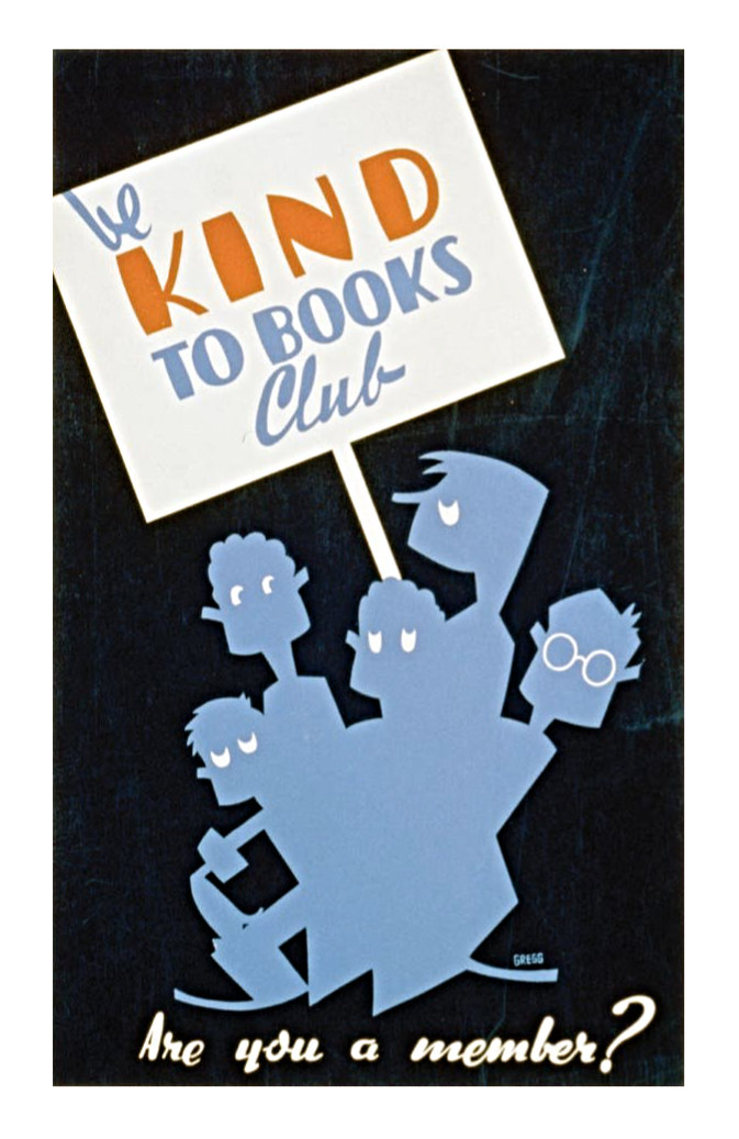 Retro book posters: Be kind to books