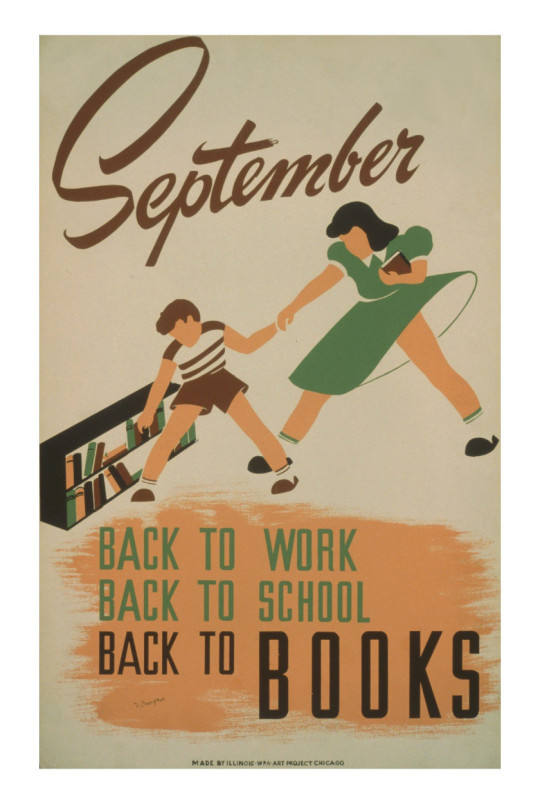 September. Back to work, Back to school, back to Books