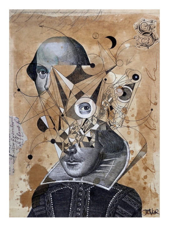 Shakespeare Abstract Print