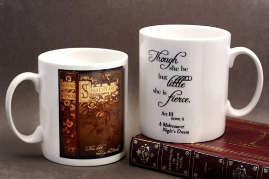 Shakespeare Bone China Mug