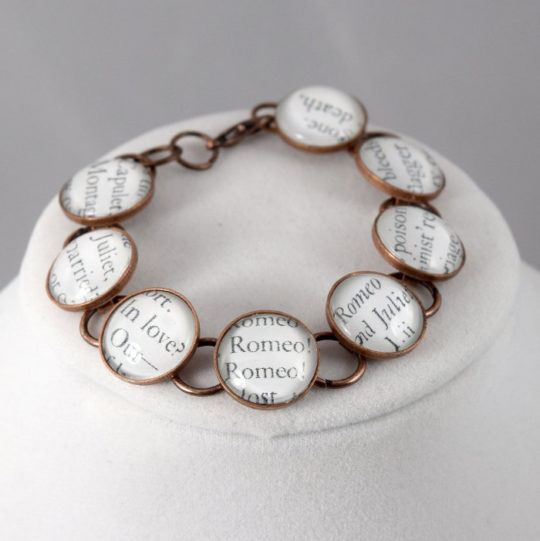 Shakespeare Book Page Bracelet