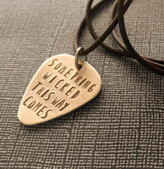 Shakespeare Guitar Pick Necklace