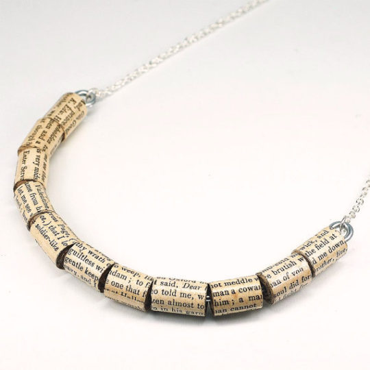 Shakespeare Upcycled Paper Beads Necklace