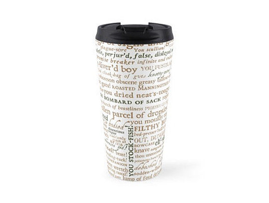 Shakespeare's Insults Travel Mug