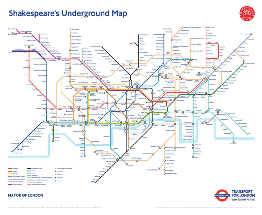 Shakespeare's London Underground Map