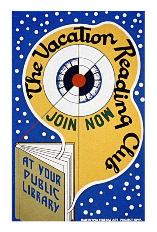 Vintage book posters: The vacation reading club