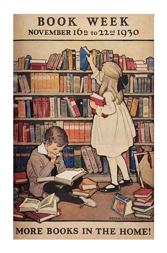 Vintage book posters - Book Week November 1930