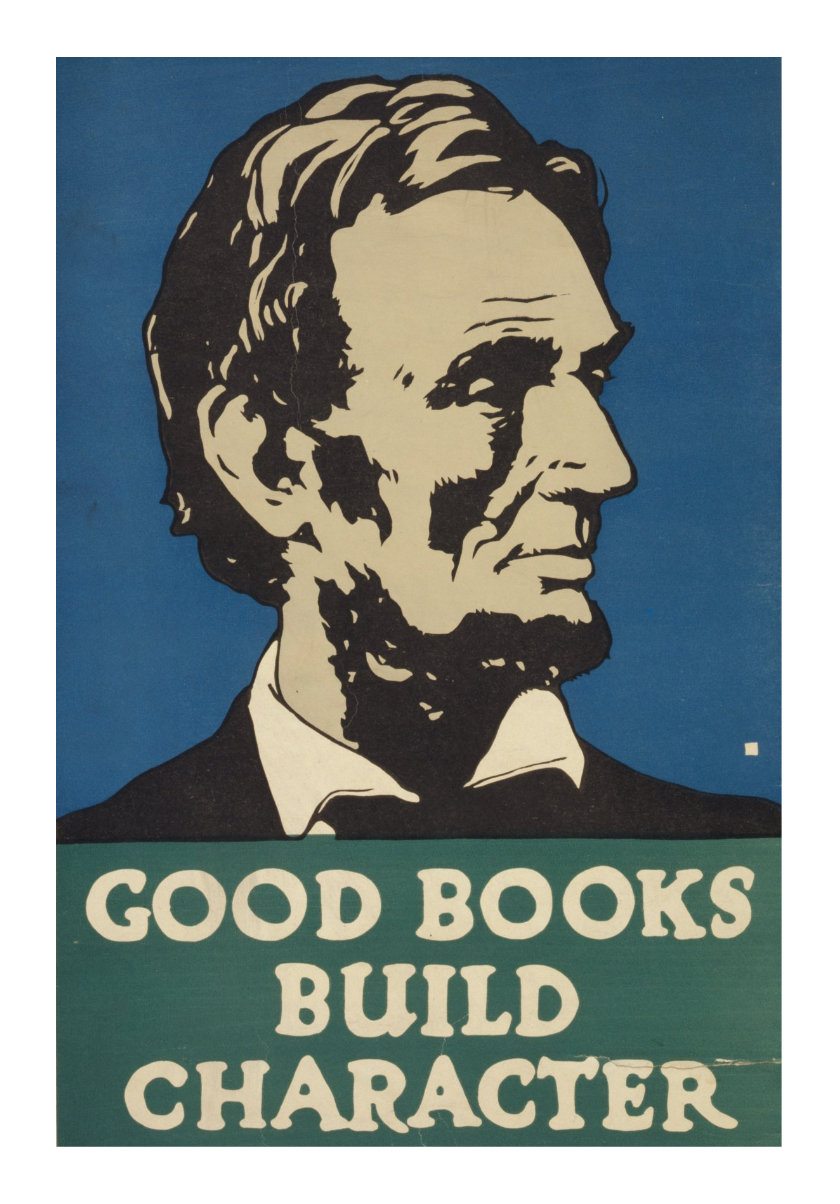 Vintage book posters - Good books build character