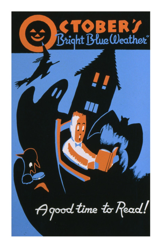 Vintage book posters: October - a good time to read