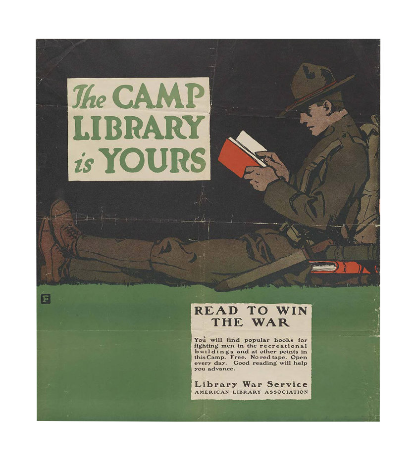 Vintage library posters - The camp library is yours
