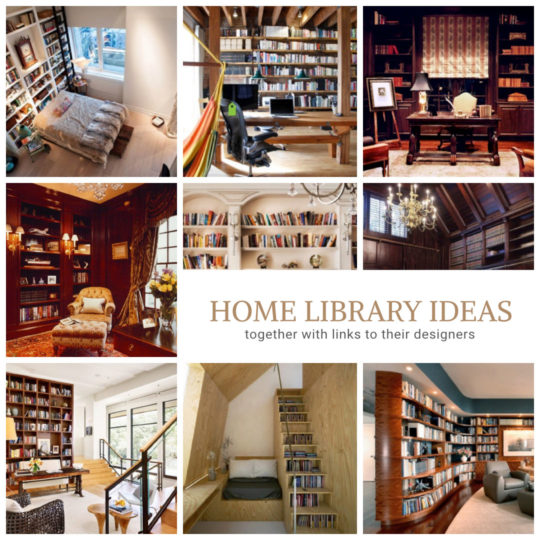 Wonderful home library ideas - together with links to their designers