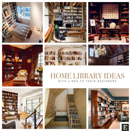 Best home library ideas with links to their designers