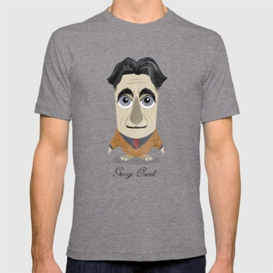 Great authors as owls - George Orwell t-shirt