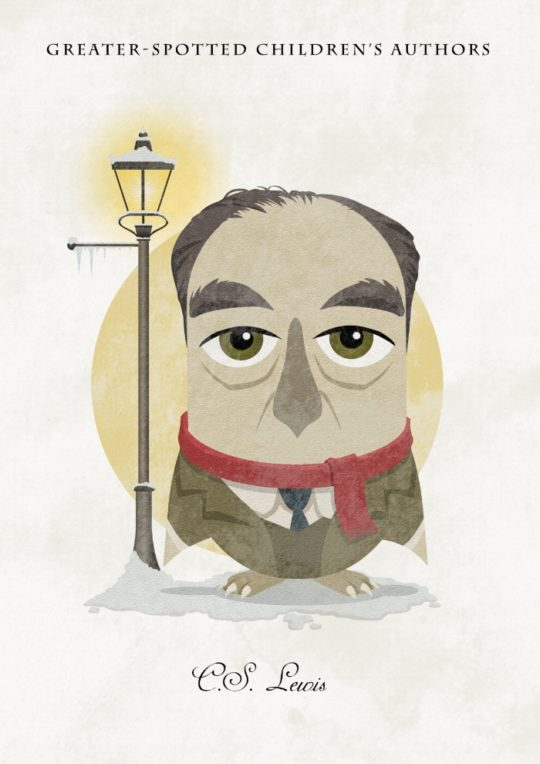 Great authors presented as owls - C.S. Lewis