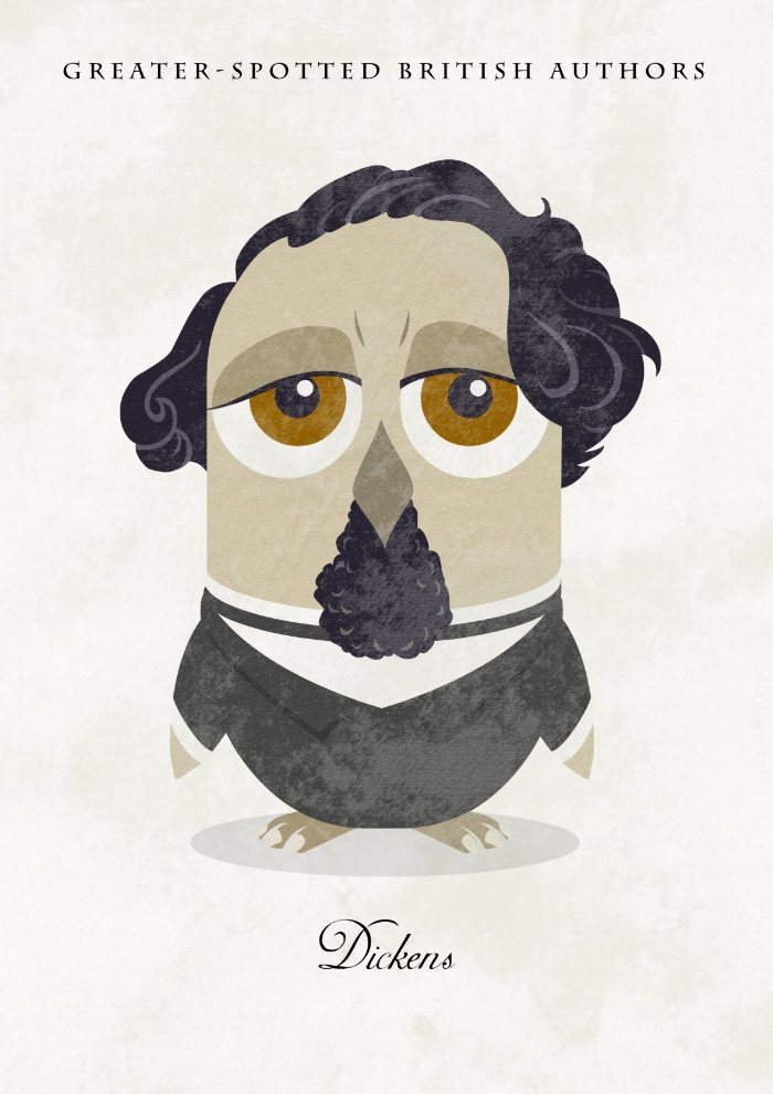 Great authors presented as owls - Charles Dickens