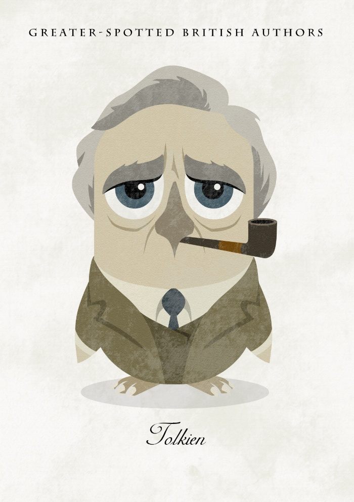 Great authors presented as owls - J. R. R. Tolkien