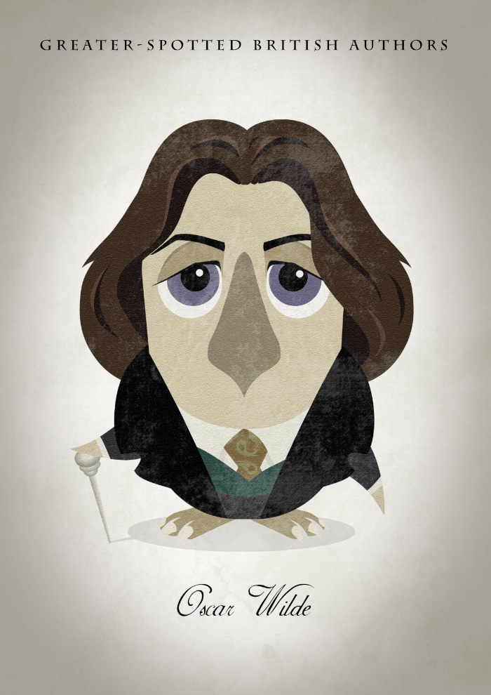 Great authors presented as owls - Oscar Wilde