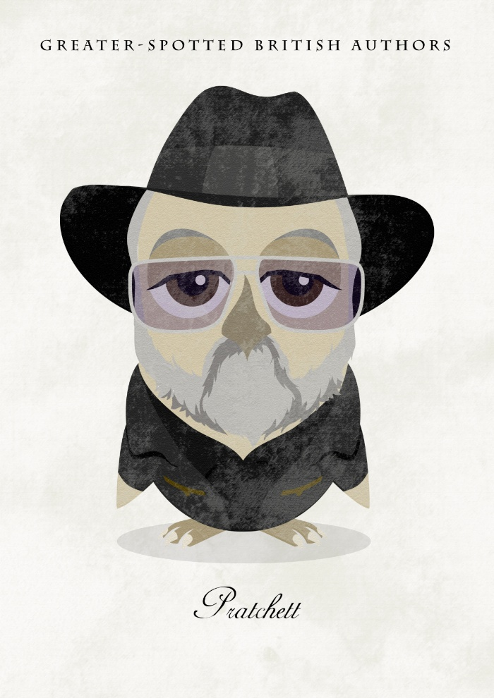 Great authors presented as owls - Terry Pratchett