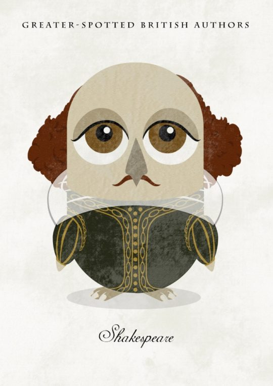 Great authors presented as owls - William Shakespeare