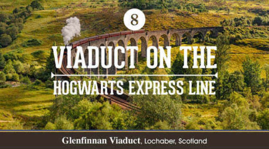 Harry Potter film locations - viaduct on the Hogwarts Express Line