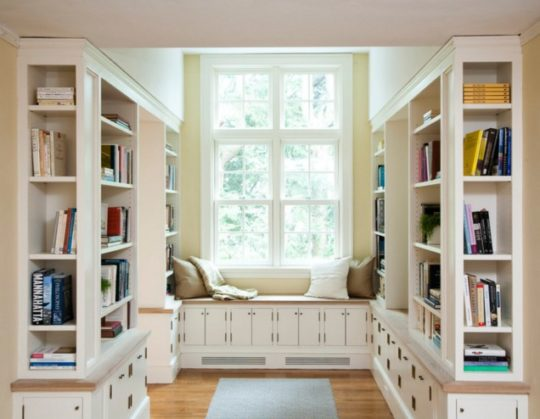 Home library and reading nook
