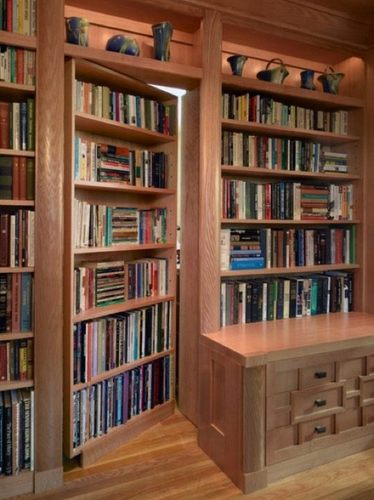 Home library ideas - Hidden library