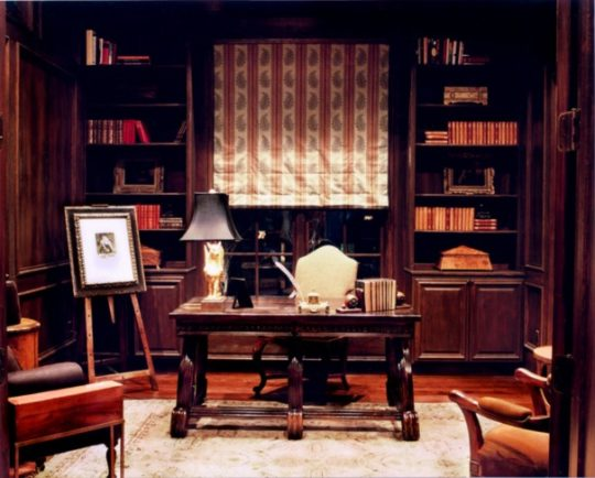 Home library ideas - Home office library in Austin