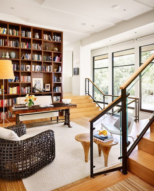 Modern style transitional library